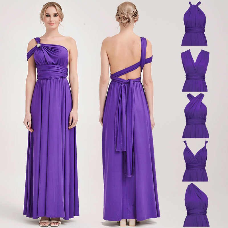 Grape Infinity Wrap Dresses NZ Bridal Convertible Bridesmaid Dress One Dress Endless possibilities