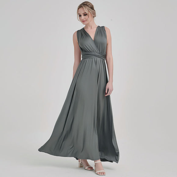 Grey Endless Ways Convertible Beach Wedding Bridesmaid Dresses