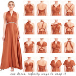 Vintage Mauve Infinity Wrap Dresses NZ Bridal Convertible Bridesmaid Dress One Dress Endless possibilities