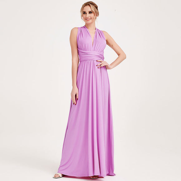 Lilac Infinity Wrap Bridesmaid Dresses Endless Way Convertible Maxi Dress