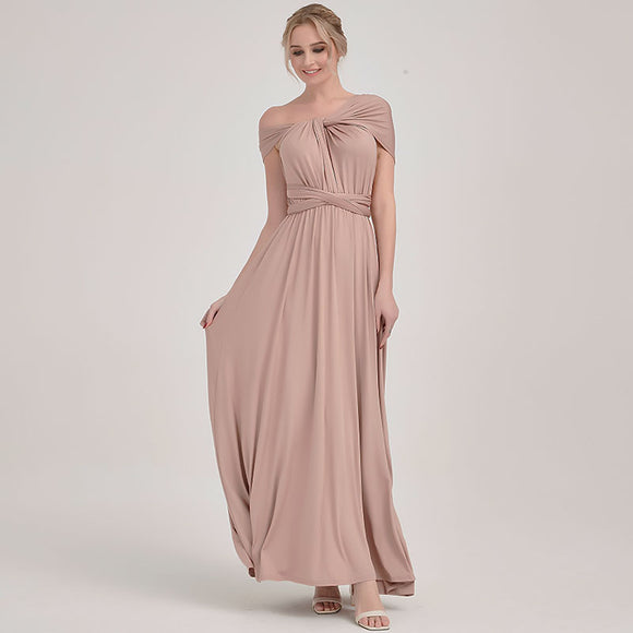 Mocca Endless Ways Beach Wedding Bridesmaid Dress