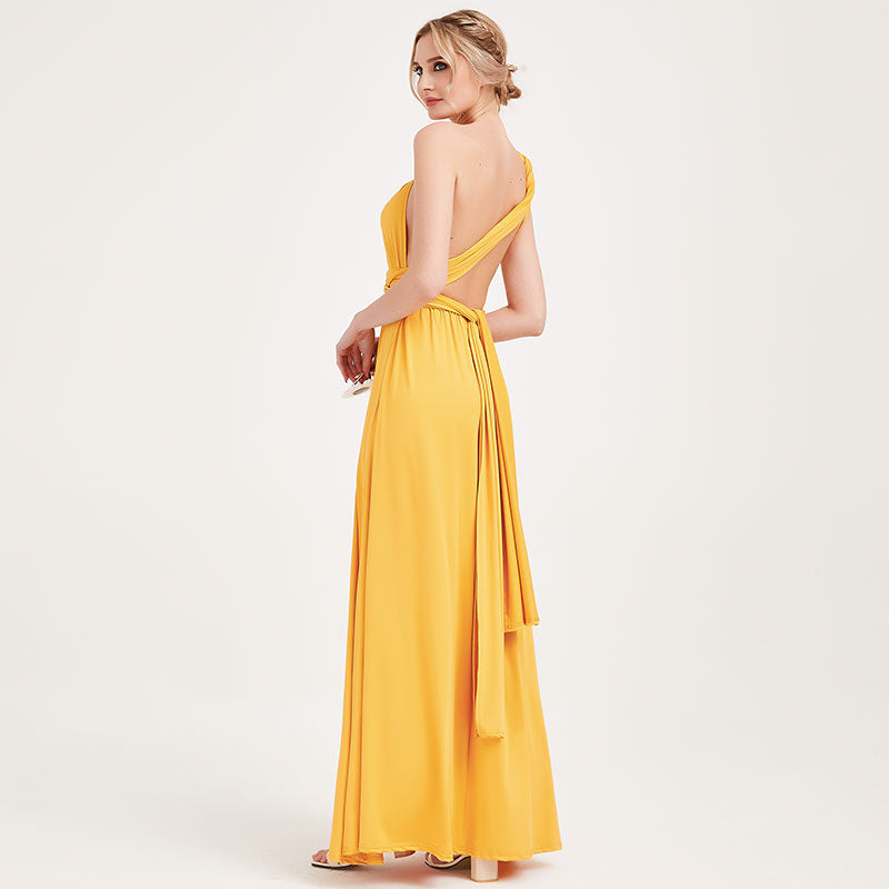 Mustard Yellow Infinity Gown Ready to Ship