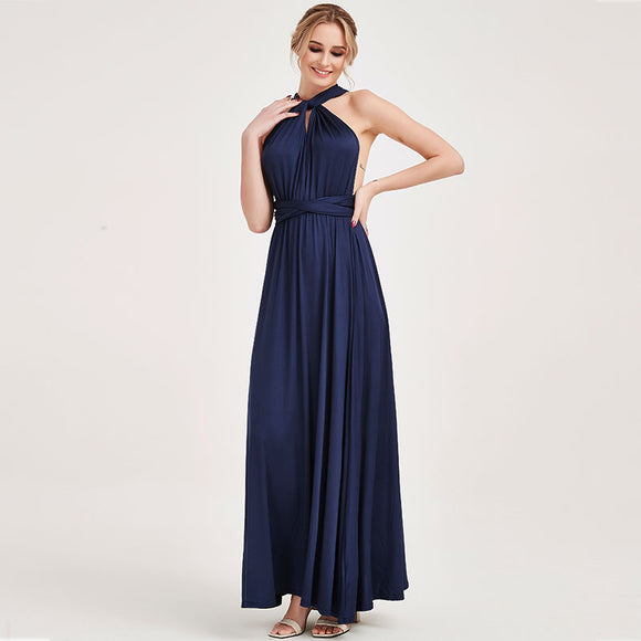 Navy Multi Wrap Bridesmaid Dresses Endless Way Convertible Maxi Dress