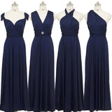 Navy Blue Infinity Wrap Dresses NZ Bridal Convertible Bridesmaid Dress One Dress Endless possibilities