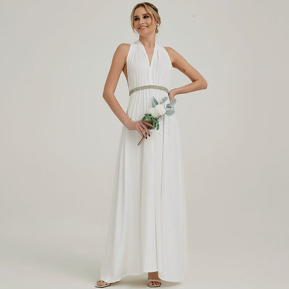 Off White Endless Ways Convertible Beach Wedding Bridesmaid Dresses