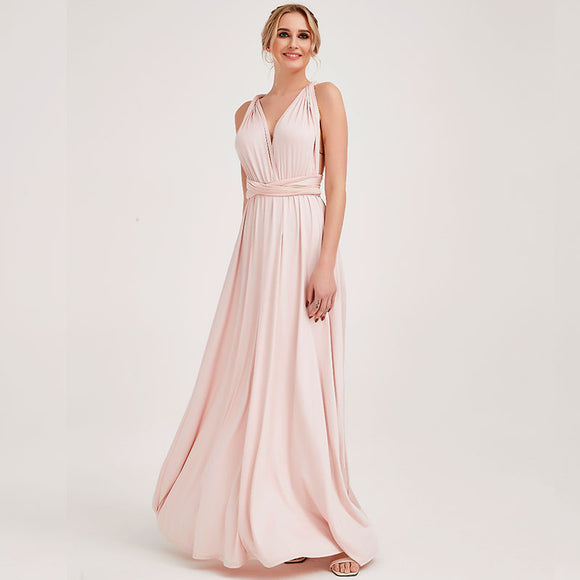 Pale Rose Endless Ways Convertible Beach Wedding Bridesmaid Dresses