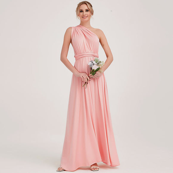 Pink Endless Way Convertible Maxi Dress Infinity Wrap Bridesmaid Dresses
