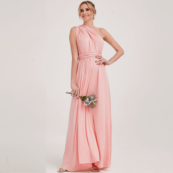 Pink Infinity Wrap Bridesmaid Dresses Endless Way Convertible Maxi Dress