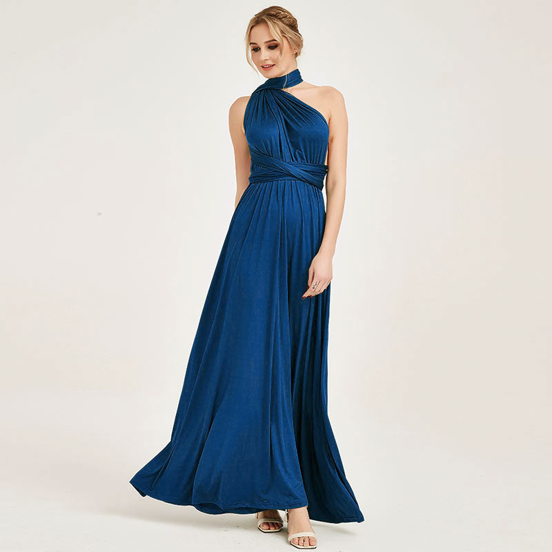Prussian Blue Infinity Wrap Dresses NZ Bridal Convertible Bridesmaid Dress One Dress Endless possibilities