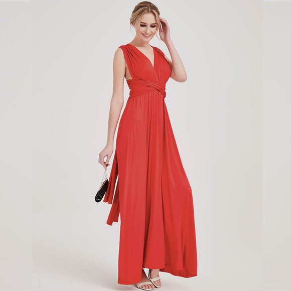 Red Endless Ways Convertible Beach Wedding Bridesmaid Dresses