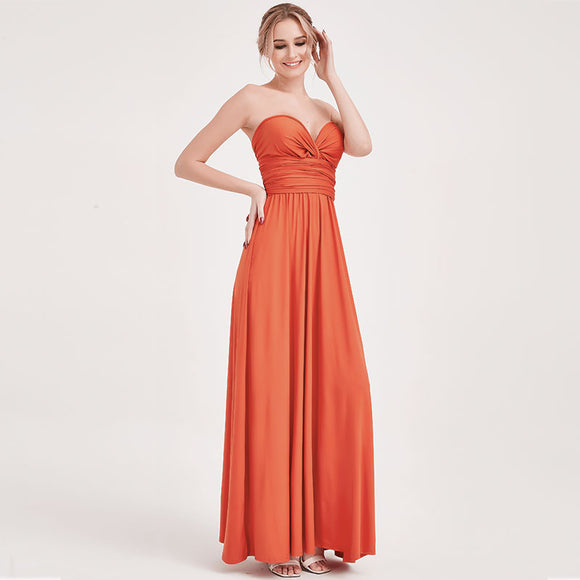 Rust Infinity Wrap Gown Endless Ways Bridesmaid Dress