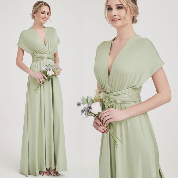 SilverSage Infinity Wrap Dresses NZ Bridal Convertible Bridesmaid Dress One Dress Endless possibilities