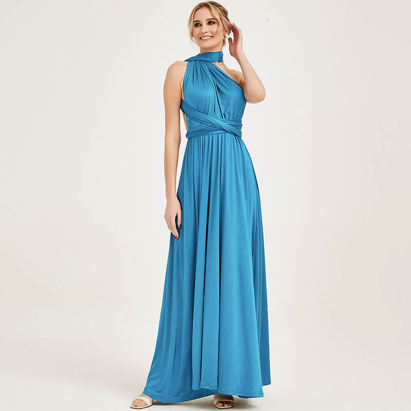 Water Blue Tropical Bridesmaid Dresses Endless Way Convertible Maxi Dress