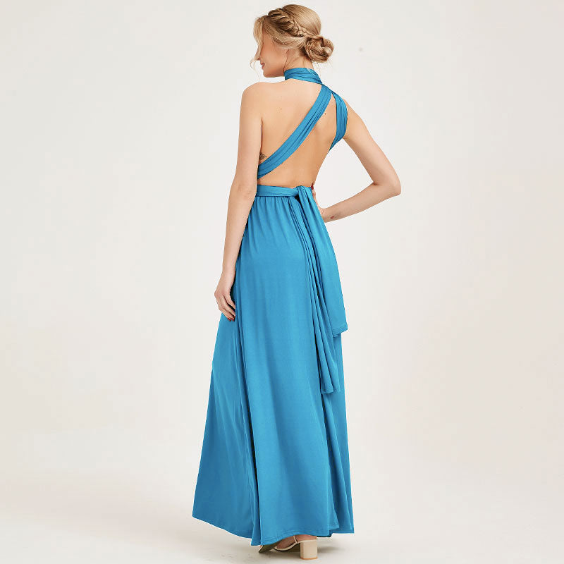Water Blue Infinity Wrap Dresses NZ Bridal Convertible Bridesmaid Dress One Dress Endless possibilities
