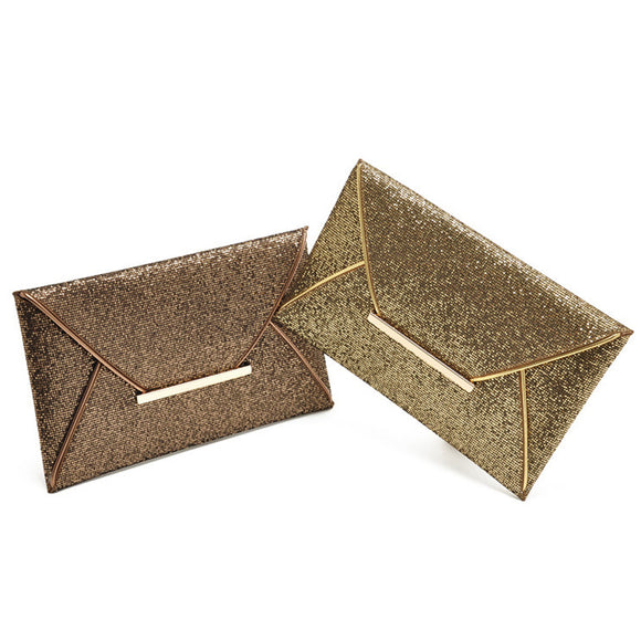Brief Sparkling Envelope Clutch Purse