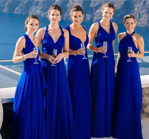 Blue Violet Infinity Wrap Bridesmaid Dresses Endless Way Convertible Maxi Dress