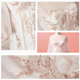 [Plus Size]Vintage Hollow Out Gold Lace Bridal Gown
