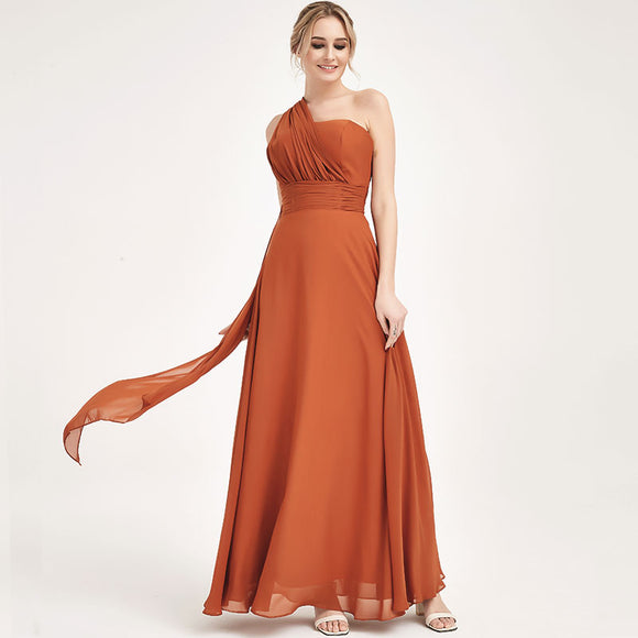 Burnt Orange CONVERTIBLE Chiffon Bridesmaid Dress-CHRIS