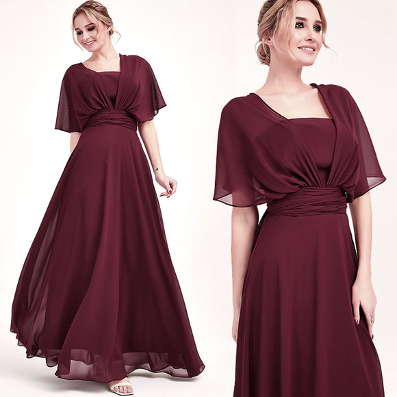 Cabernet CONVERTIBLE Chiffon Bridesmaid Dress-CHRIS