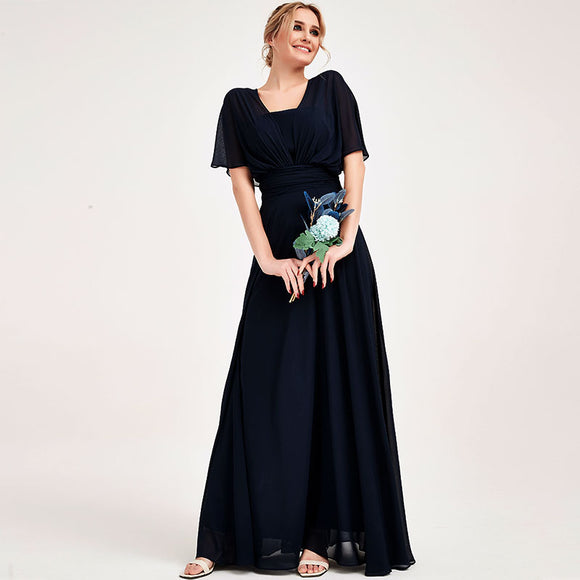 Navy Blue CONVERTIBLE Chiffon Bridesmaid Dress-CHRIS