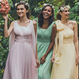 Multi Ways Convertible Sweetheart Chiffon Bridesmaid Dresses