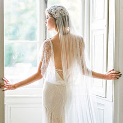 Embroidery Vintage Head Lace Wedding Veil for Brides