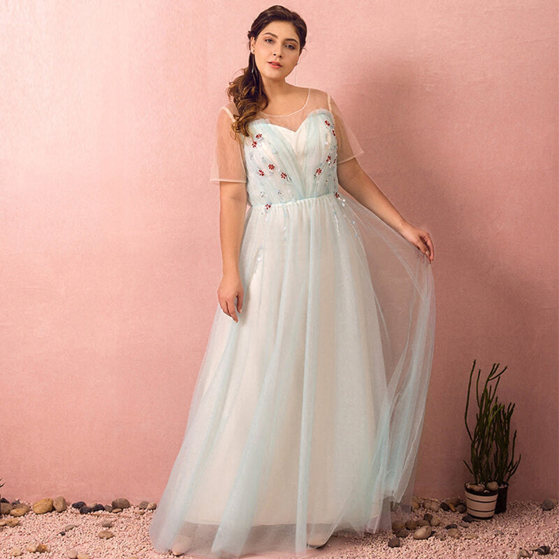 Plus Size Blue Evening Dress NZ Bridal