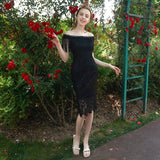 Gauze Beaded Tassels Holiday Little Black Party Dress