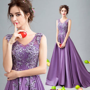 Noble Embroidery Lace Appliques Beaded Formal Mother of the Bride Dress