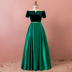 Plus Size Emerald Formal Evening Dress for Winter