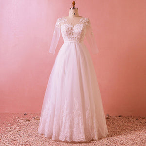 Bridal Dress for Plus Size Women Long Sleeves