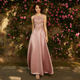Mix Match Dusty Rose + Silver Bridesmaid Dresses