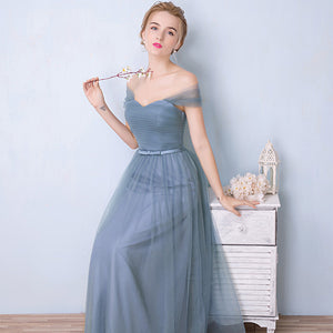 Convertible Sweetheart Pleated Bow Tie Bridesmaid Dress