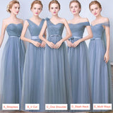 Double V Cut Pleated Bow Tie Bridesmaid Dress