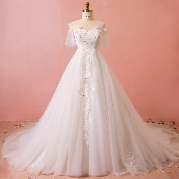 Elegant Wedding Bridal For Plus Size Female