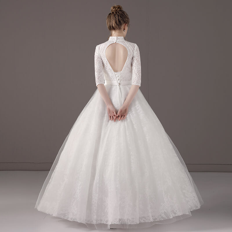 Vintage High Collar Sheer Sweetheart Neck Wedding Bridal Gown