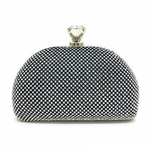 Glimmer Evening Handbag Clutch with Rhinestone
