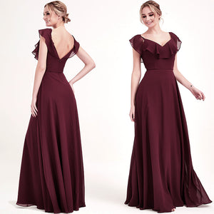 Cabernet Dark Burgundy CONVERTIBLE Bridesmaid Dress-ZOLA