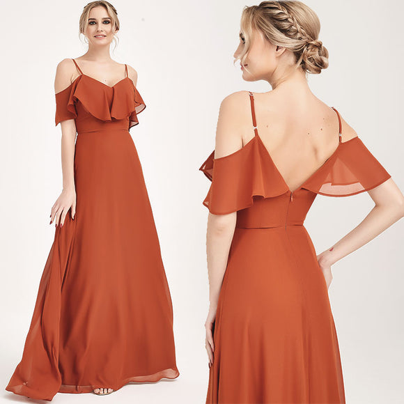 Burnt Orange CONVERTIBLE Bridesmaid Dress-ZOLA