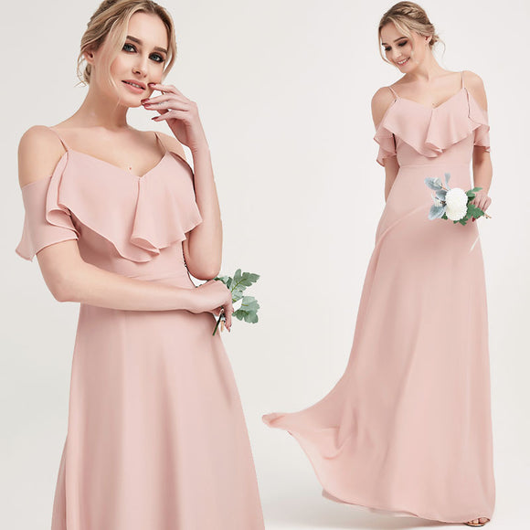 Dusty Rose CONVERTIBLE Bridesmaid Dress-ZOLA