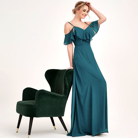 Teal CONVERTIBLE Bridesmaid Dress-ZOLA