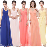 Deep V-neck Ruched Bust Maxi Woman Evening Dresses