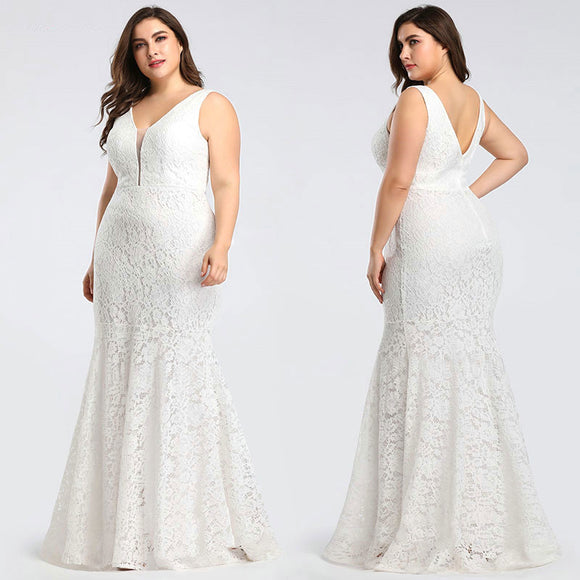 NZ Sexy Fitted Lace Mermaid Style Bridal Gown