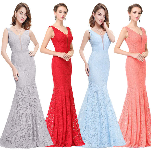 NZ Sexy Fitted Lace Mermaid Style Evening Gown