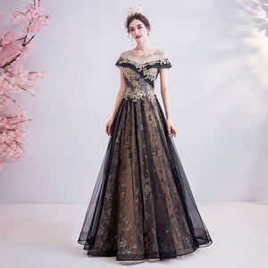 NZ Bridal Short Sleeves Illusion Neckline Tulle Cascade Beading Embroidery A-line Ball Gown Wedding Dresses