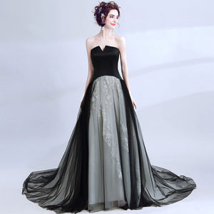 Black Swan Gradient Color Prom Gown