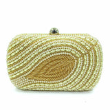 Junoesque Pure Handbags With Pearls Evening Clutches
