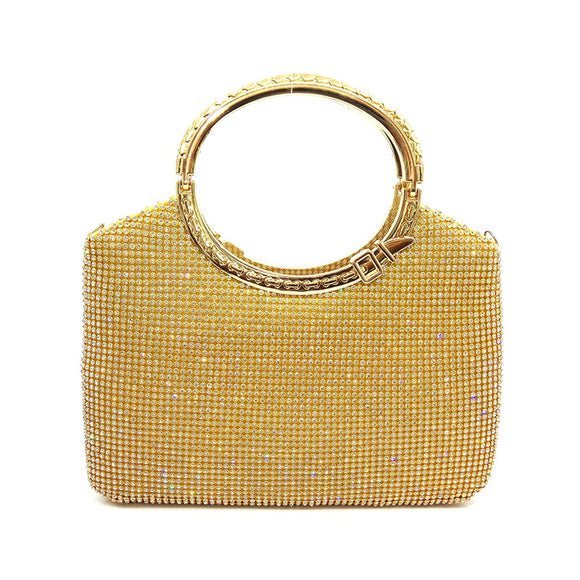 Fashion Evening Handbag Clutch with Rhinestone