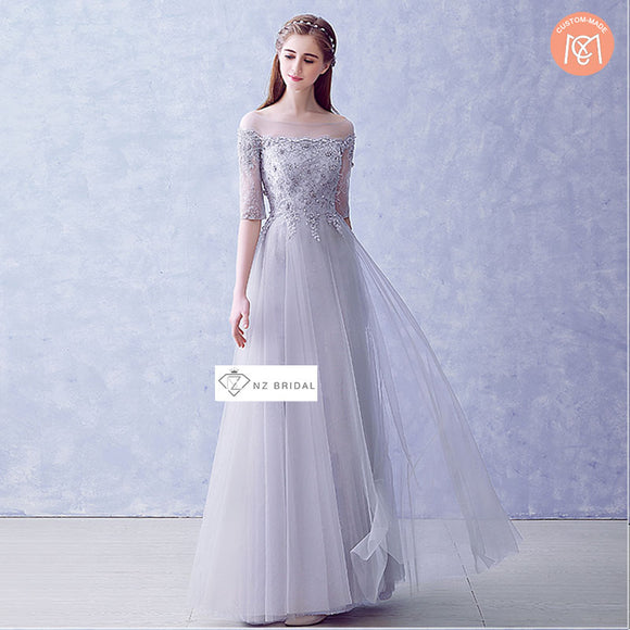 Half Sleeves Fairyism Wedding Guest Bridesmaid Dress