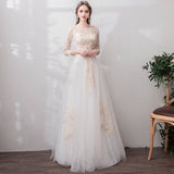 NZ Bridal Illusion Sweetheart Lace Long Sleeves Romantic Dress A-line Winter Bridal Dress